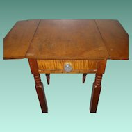 Federal Tiger maple Drop Leaf End Table 1820's