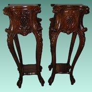 Vintage Pr Wooden Stands