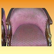 Vintage Pr Oval Swan Chairs