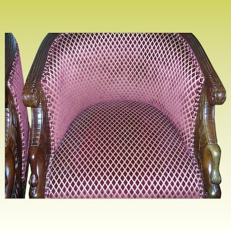 Vintage Pr Oval Swan Chairs