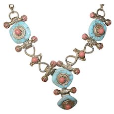 Vintage Runway Necklace Glass
