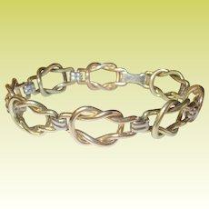 Vintage Bracelet Gold Filled Love Knots