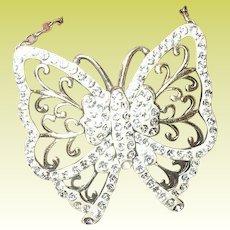 Vintage Necklace Sterling Vermeil Butterfly