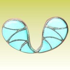 Vintage Earrings Sterling Turquoise