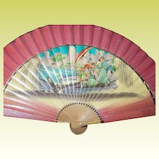 Vintage 1950's Whimsical Hand Fan
