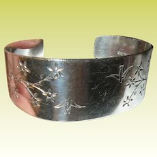 Arts Crafts Sterling Cuff Bracelet