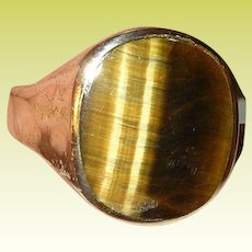 Vintage Ring Gold Filled Tiger Eye