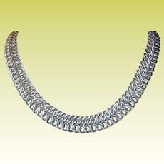 Vintage Sterling Woven Necklace