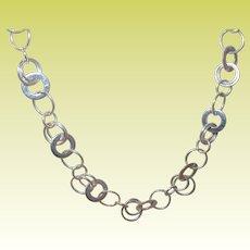 Vintage Sterling Necklace Round Loops
