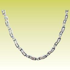 Vintage Sterling Link Necklace