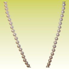 Vintage Cultured Fresh Water Pearl Necklace