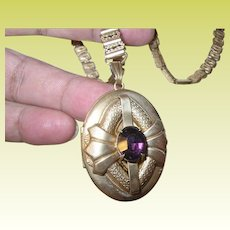 Victorian Book Chain Gold Filled Locket