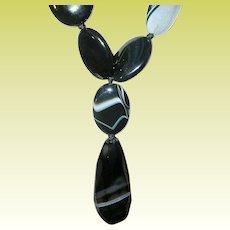 Vintage Banded Agate Necklace