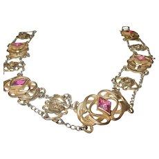 Vintage Gold Filled Czechoslovakian Choker Necklace