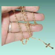Vintage Rosary Gold Filled