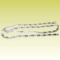 Vintage Sterling Silver Link Necklace