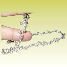 Vintage Sterling Link Necklace Modernist Design