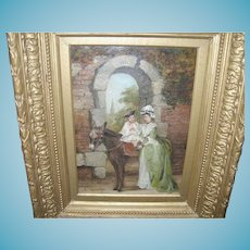 Antique Oil On Canvas by W. Chapman 1860's 1870's