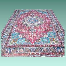 Vintage Persian Rug 9.8 Ft. x 6.25 Ft.