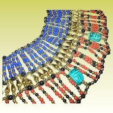 Vintage Egyptian Revival Large Necklace