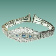 Art Deco Watch Band Bracelet 10K Gold Filled