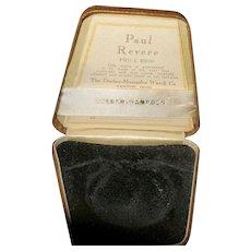 Vintage Paul Revere Pocket Watch Case