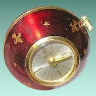 Vintage Heno Ball Pendant Watch Enamel