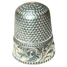 Sterling Vermeil Thimble Chased Design