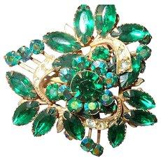 Vintage Green/Aurora Borealis Stones