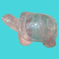 Vintage Quartz Carved Turtle