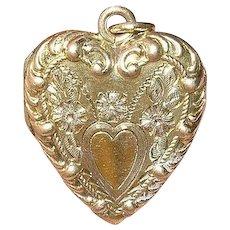 Vintage Gold Filled Heart Locket Pendant