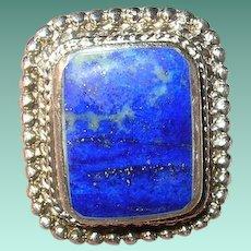 Vintage Sterling Blue Lapis Ring