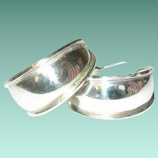 Vintage Sterling Hoop Earrings by A.T.I.