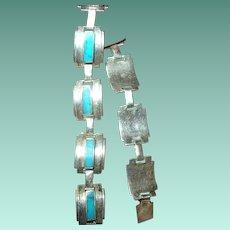Vintage Taxco Sterling LInk Bracelet