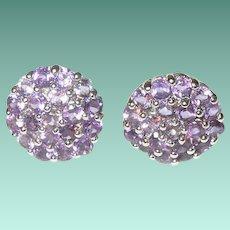 Vintage Sterling Earrings Tanzanite
