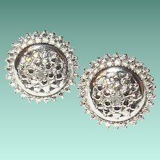 Vintage Sterling Diamond Earrings