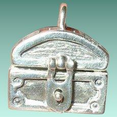 Vintage Sterling Trunk Charm