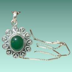 Vintage Sterling Pendant Necklace