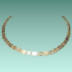 Antique 12K Book Link Necklace 1860's
