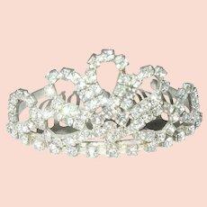 Vintage Tiara Hair Comb Rhinestone Crystals
