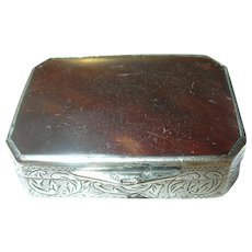 Antique Snuff Box Sterling 1860's