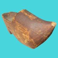Vintage Wooden Clog Dutch Shoe