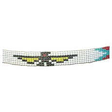 Vintage Native Headband Beaded Bird Pattern