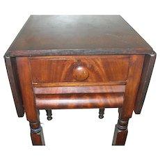 Antique Drop Leaf End Table Mahogany 1880's