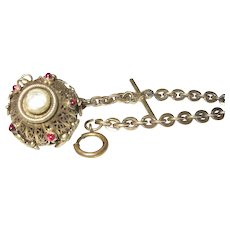 Edwardian Gold Filled Watch Chain Lg. Fob