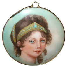 Miniature Portrait Painting Duchess Louise of Persia