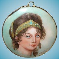 Miniature Portrait Painting Duchess Louise of Prussia
