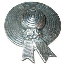 Vintage Sterling Hat Brooch