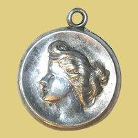 Vintage Pendant Charm Silver Plate