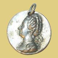 Vintage Charm Pendant Silver Plate